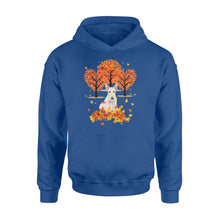 Load image into Gallery viewer, Cute White Scottish Terrier dog puppies under the autumn tree fall leaf - beautiful fall season Hoodie shirt - Halloween, Thanksgiving, birthday gift ideas for dog mom, dog dad, dog lovers - IPH477