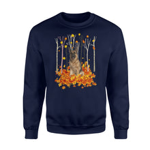 Load image into Gallery viewer, Cute German Shepherd dog puppies under the autumn tree fall leaf - beautiful fall season Sweat shirt - Halloween, Thanksgiving, birthday gift ideas for dog mom, dog dad, dog lovers - IPH487