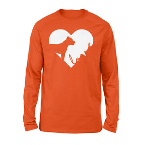 Love Pitbull print long sleeve shirt design - IPH390