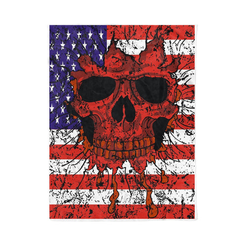 Skull flag Fleece Blanket