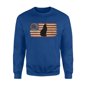 Vintage Betsy Ross Flag howling Wolf sweatshirt design - IPH272