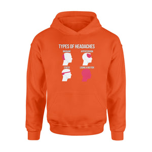 Funny Types Of Headaches Losing A Big Fish Fishing Hoodie shirt design - great present for Fishing lovers - SPH15