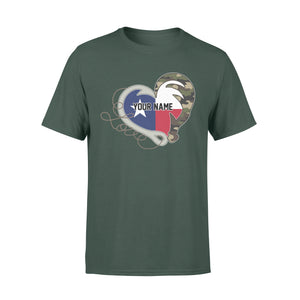 TX Texas Love Hunting Fishing Flag Fish hook Hunting Camo Custom T-shirt design - personalized gift for hunting, fishing lovers - IPH1560