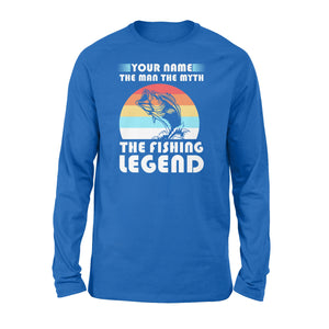 Custom name the man the myth the legend 1970s vintage retro personalized gift - Standard Long Sleeve