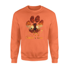 Load image into Gallery viewer, Custom dog's name dog paws mom autumn halloween personalized gift - Standard Crew Neck Sweatshirt