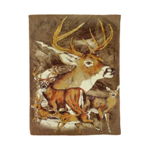 Load image into Gallery viewer, Running Deer Brown Fleece Blanket