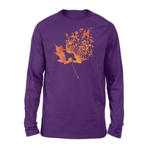 Load image into Gallery viewer, Afghan Hound dog fall leaf - beautiful autumn season Long sleeve shirt - Halloween, Thanksgiving, birthday gift ideas for dog mom, dog dad, dog lovers - IPH459