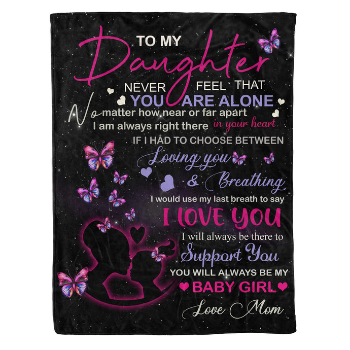 To My Daughter Throw Fleece Blanket gifts for daughter - NQS51 DRS