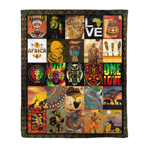 African Culture Fleece Blanket