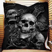 Load image into Gallery viewer, Skull Fleece Blanket