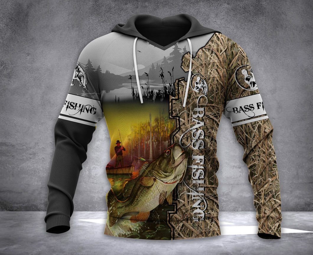 Bass Fishing Full Printing All over printed Hoodie shirt - IPH579