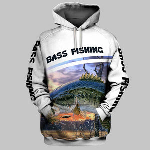 Bass Fishing all over print hoodie shirt - IPH543