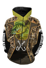 Load image into Gallery viewer, Bluegill fish Customized Fish on All over printed Long sleeve, Hoodie, Zip up hoodie - FSA23