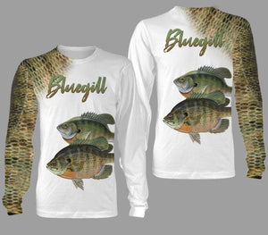 Bluegill fishing full printing