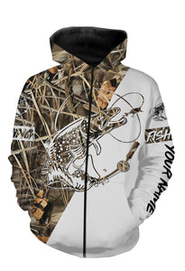Brook Trout Personalized fishing tattoo camo all-over print long sleeve, T-shirt, Hoodie, Zip up hoodie - FSA27
