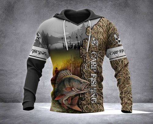 Carp Fishing Full Printing Hoodie shirt - IPH578