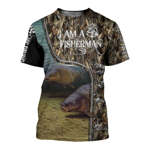 Carp Fishing I am a Fisherman All over print T-shirt, Hoodie, Zip up hoodie, Long sleeve - IPH732