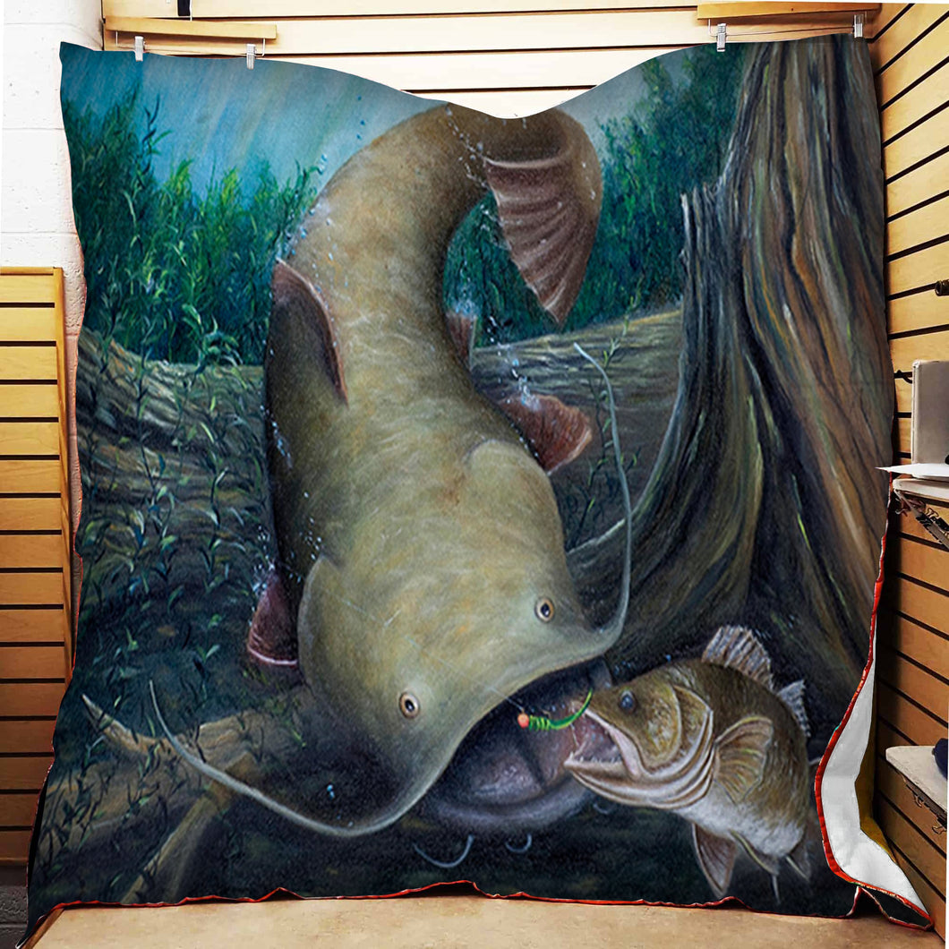 Catfish Fleece Blanket