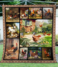 Load image into Gallery viewer, Chicken – Lovely Family Fleece Blanket