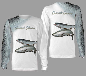 Chinook salmon fishing full printing