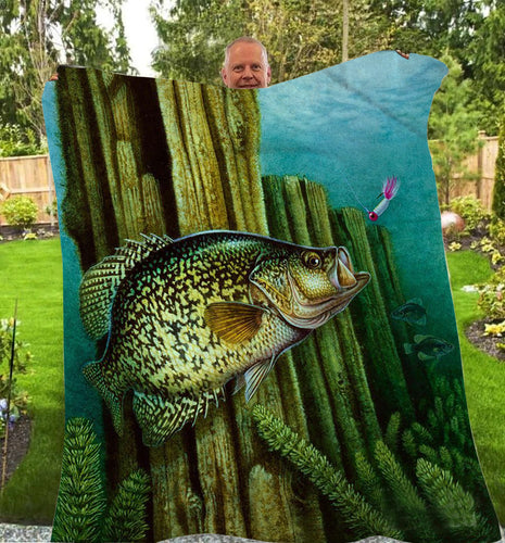 Crappie one Fleece Blanket
