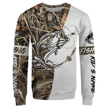 Load image into Gallery viewer, Customized fishing tattoo camo all-over print long sleeve, T-shirt, Hoodie, Zip-up hoodie - FSA9