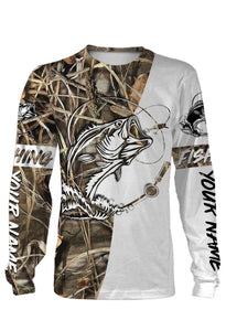 Customized fishing tattoo camo all-over print long sleeve, T-shirt, Hoodie, Zip-up hoodie - FSA9