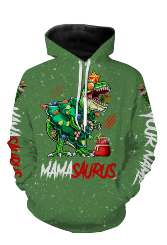 Mamasaurus shirt funny christmas gift for mom shirts, hoodie, long sleeves - TATS61