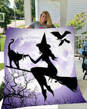 Load image into Gallery viewer, Halloween Ideas Witches Fleece Throw Blanket - NQS9