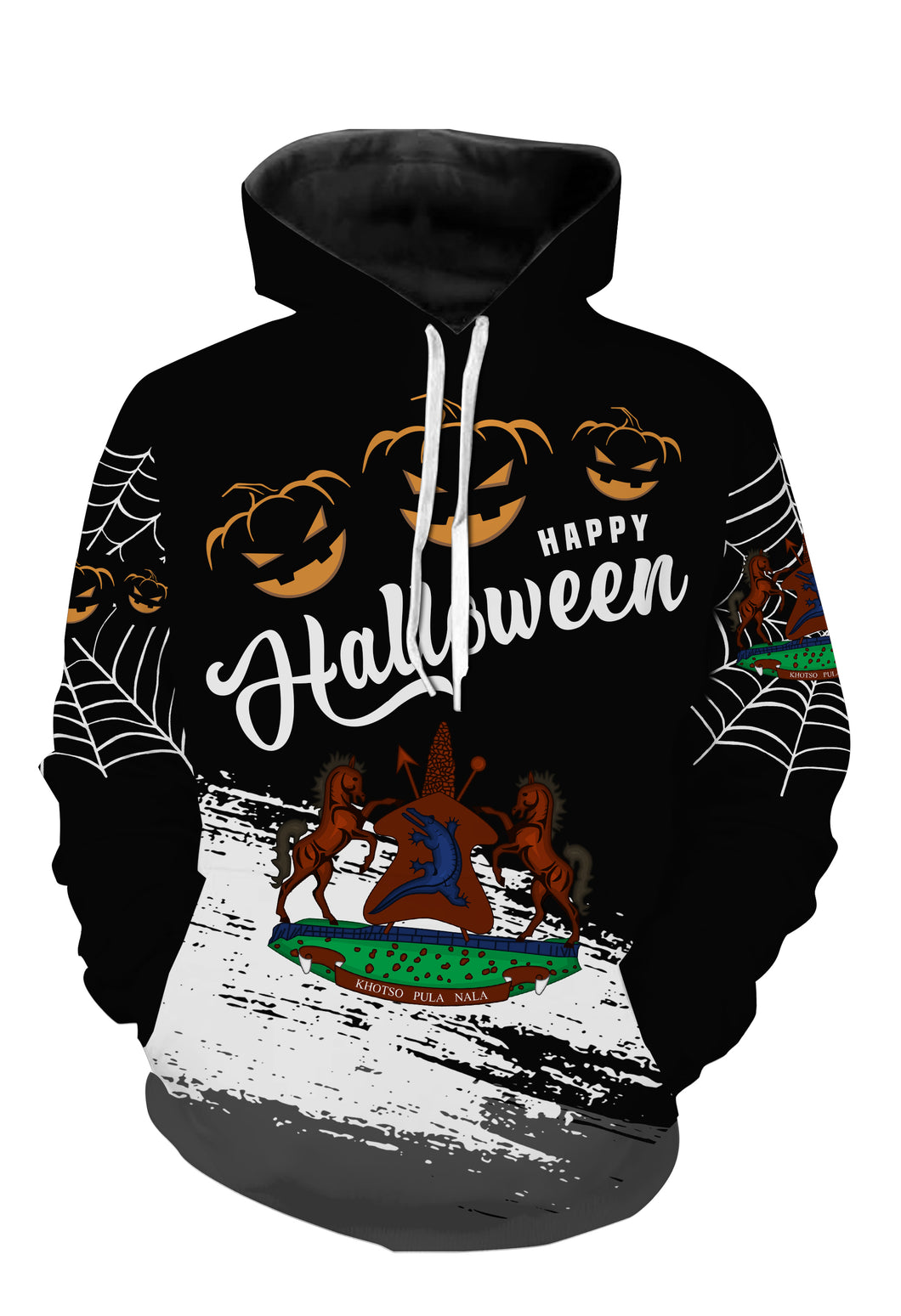 Lesotho halloween all over full printing shirt and hoodie PQB16