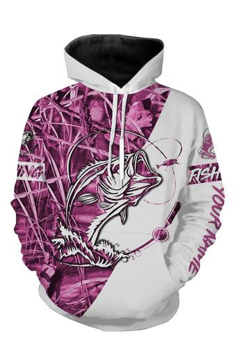 Personalized fishing pink tattoo full printing shirt, all over print hoodie