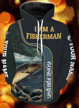 Load image into Gallery viewer, I am a fisher man trout fishing full printing shirt and hoodie - TATS37