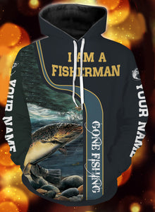 I am a fisher man trout fishing full printing shirt and hoodie - TATS37