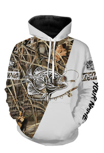 Personalized crappie fishing tattoo full printing shirt, all over print long sleeves, hoodie, zip-up hoodie