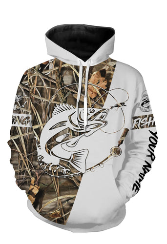 Personalized walleye fishing tattoo full printing shirt, all over print hoodie, zip up hoodie
