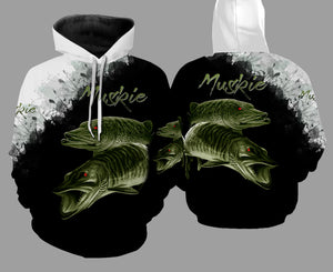 Muskie 3D Black All Over Printed Shirts For Men & Women