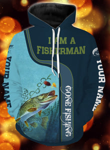 I am a fisher man northern pike fishing full printing shirt and hoodie - TATS51