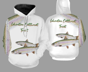 Lahontan cutthroat trout fishing full printing