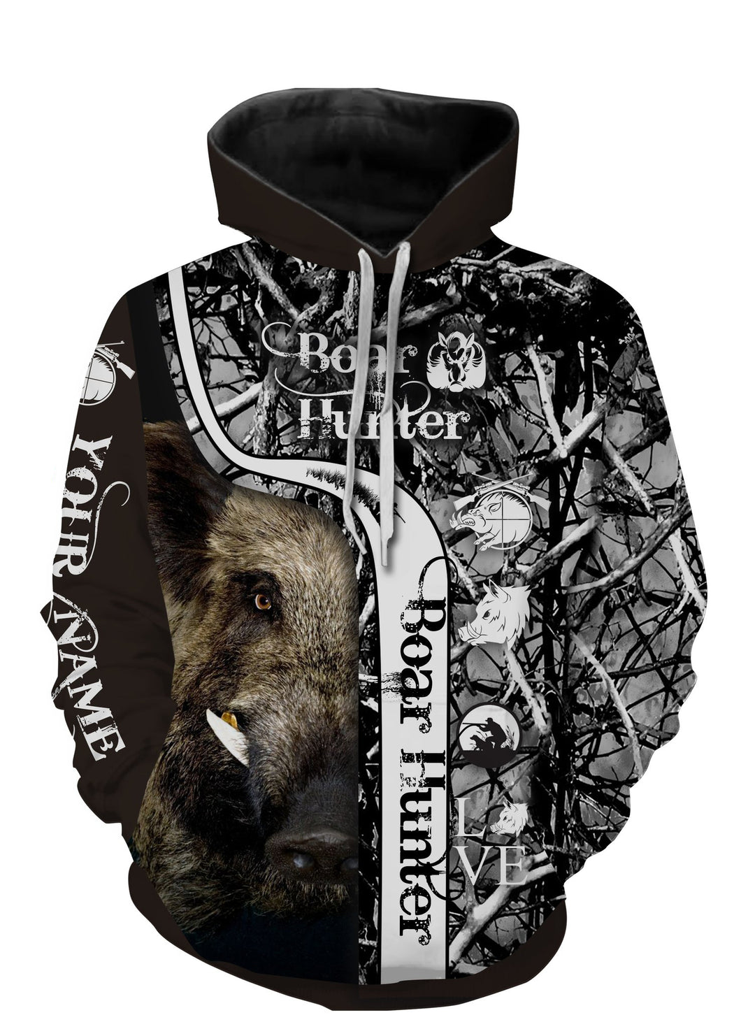 Personalized boar hunter camo muddy full printing shirt and hoodie - TATS21