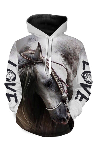 Horse beautiful 3d all over printed shirts