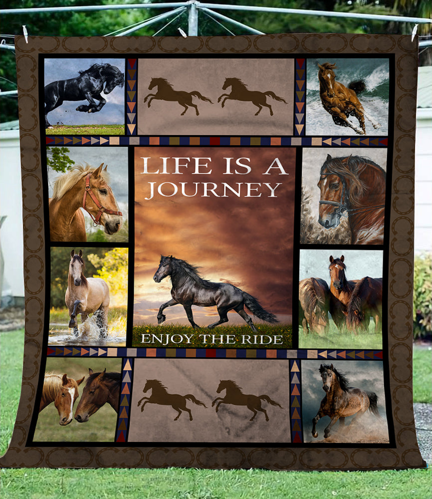 Horse – Life Is A Journey Fleece Blanket