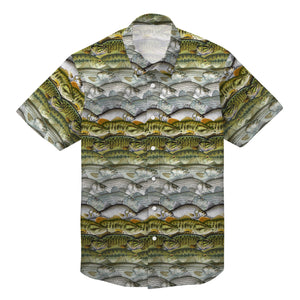 Bass fishing collection Hawaiian 3D All over printed shirts TAHT13