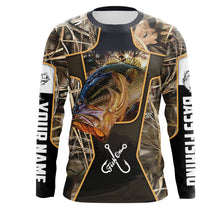 Load image into Gallery viewer, Fish on bass fishing UV protection quick dry Customize name long sleeves UPF 30+ personalized gift