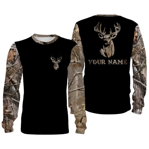 Custom name buck whitetails camouflage all over print shirts personalized gift TATS177