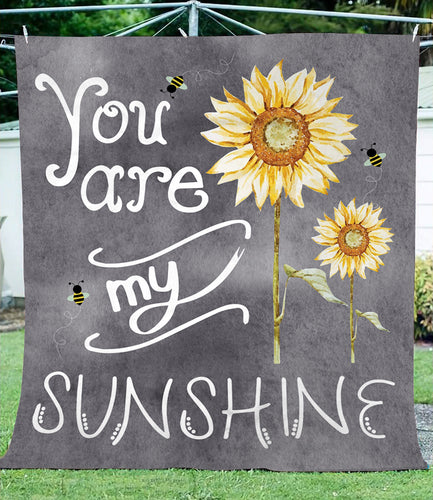 You are my sunshine fleece blanket - perfect idea gift for mother day