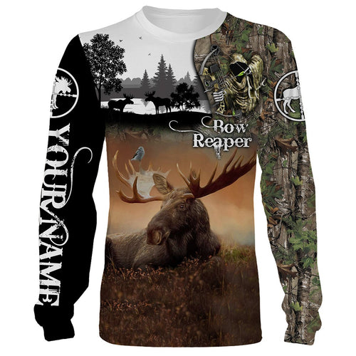 Bow Hunting Moose Custome Name 3D All Over Printed Shirts Personalized gift TATS143