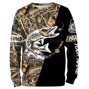 Personalized musky fishing tattoo full printing shirt, long sleeve, hoodie, zip up - TATS16
