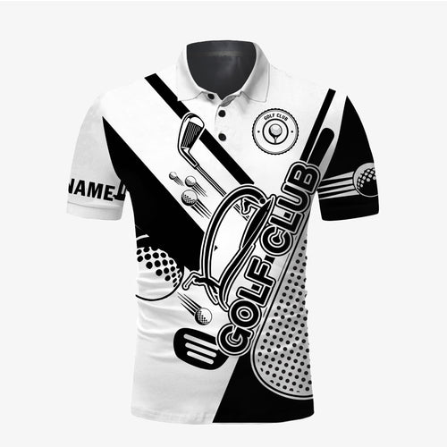 Golf club custom name and logo all over print Polo shirt personalized gift