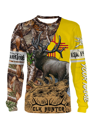 New Mexico Elk Hunting Customize Name 3D All Over Printed Shirts Personalized Gift TATS125