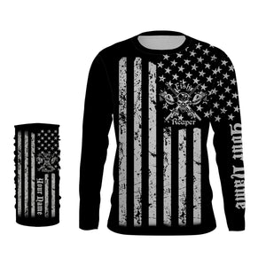 US flag fish reaper UV protection quick dry customize name long sleeves shirts UPF 30+ personalized gift